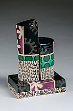 Add Spice To The Conversation by Connie Norman (Ceramic Salt and Pepper Shakers)