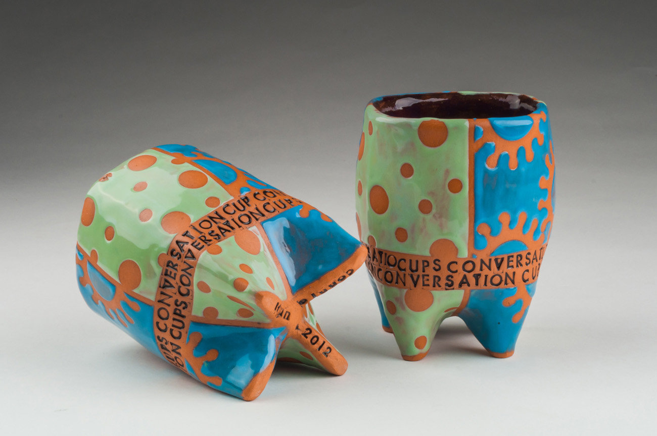 Conversation Cups by Connie Norman (Ceramic Mugs) | Artful Home