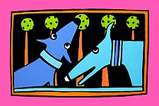 Canines In Blue by Anne Leuck  (Giclée Print)