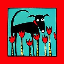 A Dog Named Tulip by Anne Leuck  (Giclée Print)