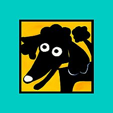 Smiling Black Poodle by Anne Leuck  (Giclée Print)
