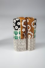 Tower Salt and Pepper Shakers by Connie Norman (Ceramic Salt & Pepper Shakers)