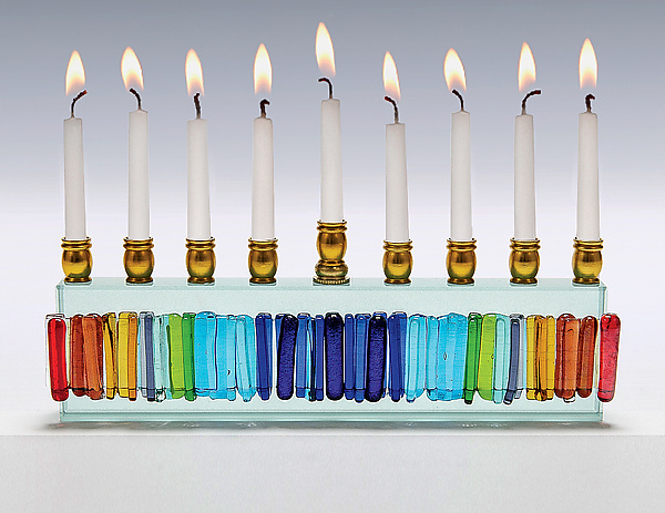 Rainbow Icicle Menorah