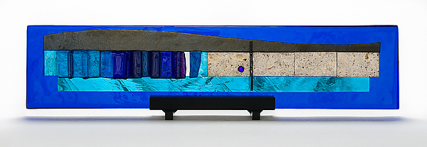 Western Wall Blue Skyline Sculpture - Gala I