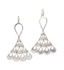 Peacock Earrings by Rachel Atherley (Gold & Silver Earrings)