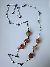 Strawberry Necklace by Erica Stankwytch Bailey (Silver & Stone Necklace)