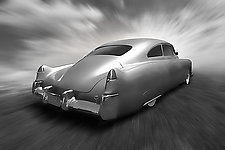 Smooth Ridin' Caddy by Jim Bremer (Black & White Photograph)