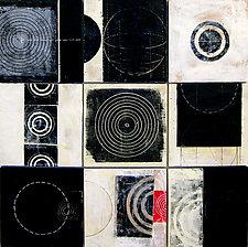 Black+White Tiles by Graceann Warn (Encaustic Painting)
