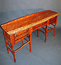 Bubinga Console Table by John Wesley Williams (Wood Console Table)