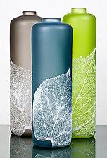Leaf Vessels by Nick Chase (Art Glass Vessel)