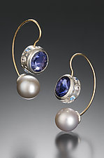 Jemloch Night by Samantha Freeman (Gold, Silver & Stone Earrings)