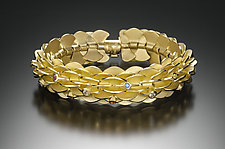 Vermeil Pangolin Bracelet with Stones by Samantha Freeman (Gold & Stone Bracelet)