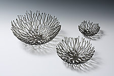 Smoke Nest by Heather Palmer (Art Glass Sculpture)