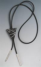 Triangle Bolo Tie by Suzanne Linquist (Wood & Silver Bolo Tie)