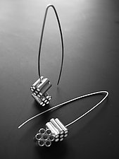 Ammo Earrings by Jennifer Chin (Silver Earrings)