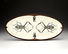 Harlequin Beetle Fish Platter by Laura Zindel (Ceramic Platter)