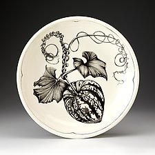 Carnival Squash Small Pasta Bowl by Laura Zindel (Ceramic Bowl)