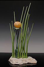 Grass Poppy by Nolan  Prohaska (Art Glass Sculpture)