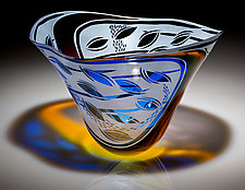 Garden Vessel by Jim & Renee Engebretson (Art Glass Bowl)