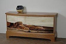 Abiquiu Sideboard by Scott Ernst (Wood Sideboard)