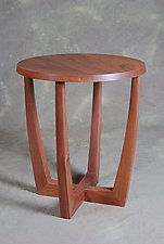 Right Side Up / Upside Down Side Table by Scott Ernst (Wood Side Table)