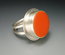 Round Double Band Ring by Amy Faust (Silver & Glass Ring)