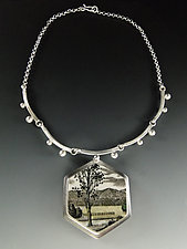 Meadow Necklace by Amy Faust (Silver & Glass Necklace)