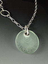 Santa Monica Necklace by Amy Faust (Silver & Glass Necklace)