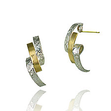 Loop Earrings by Keiko Mita (Gold & Silver Earrings)