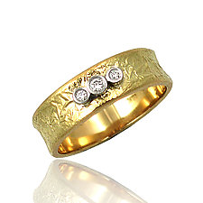 Three Stones Ring by Keiko Mita (Gold, Palladium & Stone Ring)