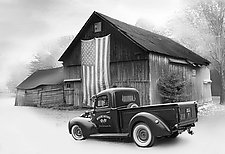 Faded Glory by Jim Bremer (Black & White Photograph)