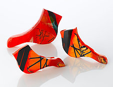 Cardinals by Elizabeth Robinson (Art Glass Sculpture)