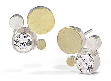 Cluster Dot Earring by Elizabeth Garvin (Gold, Silver & Stone Earrings)