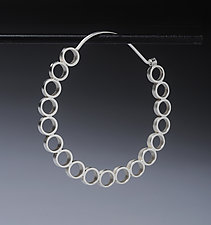 Large Tube Hoop Earrings by Thea Izzi (Silver Earrings)