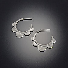 Scallop Hoops by Ananda Khalsa (Silver Earrings)