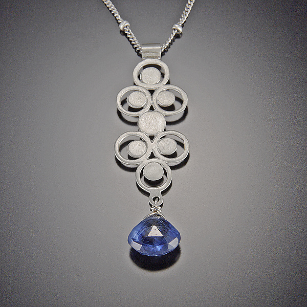 Kyanite Filigree Charm Necklace