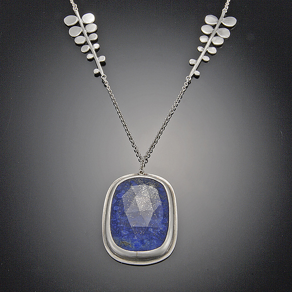 Lapis Necklace on Fern Chain