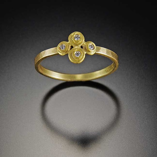 Raised Dot Diamond Ring