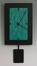 Wide Pendulum Clock by Linda Lamore (Painted Metal Clock)