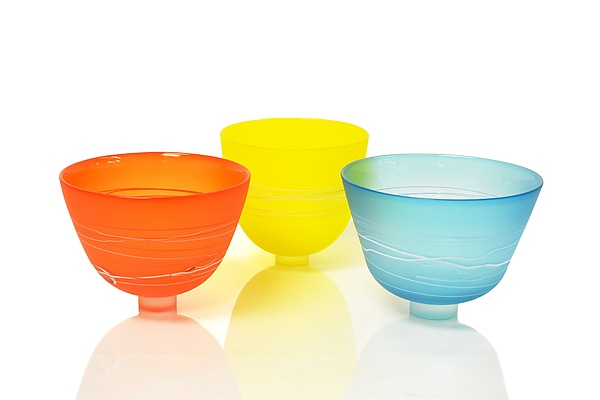 Satin Footed Bowls