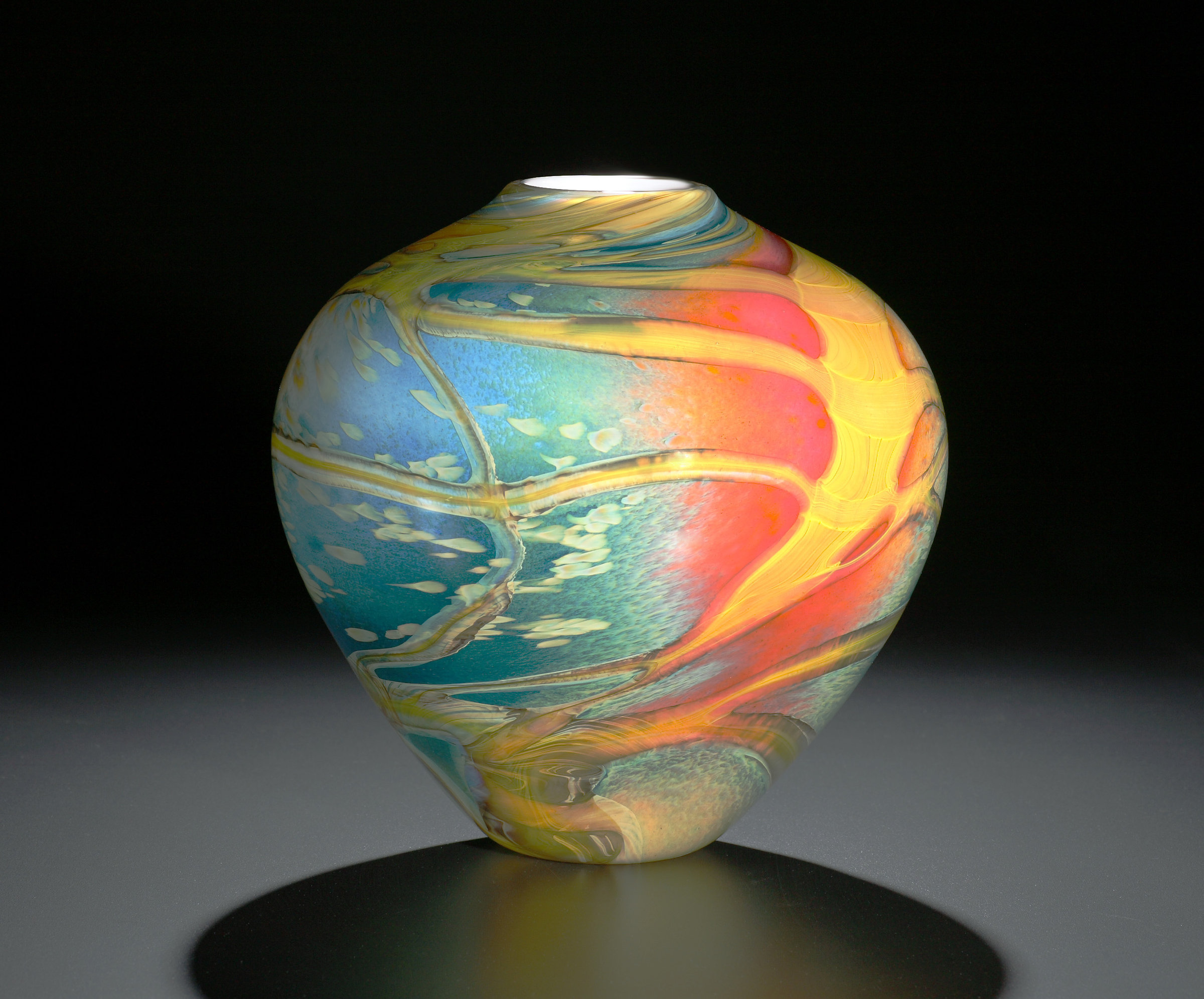 Cosmos Vase By John Amp Heather Fields Art Glass Vase