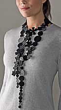 Black and Gray Necklace by Danielle Gori-Montanelli (Felt Necklace)