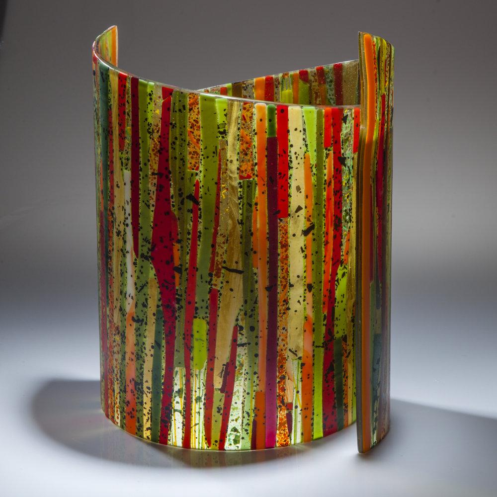 Bamboo Forest Ii By Varda Avnisan Art Glass Sculpture