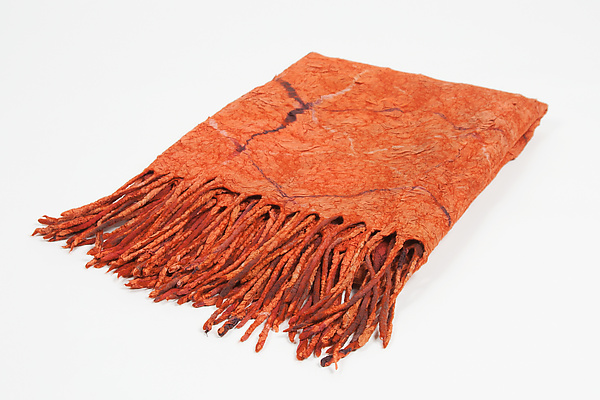 Deep Orange Throw