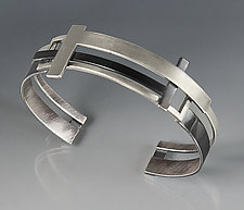 T Square Cuff by Hilary Hachey (Silver Bracelet)