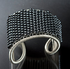 Hematite Cuff by Tana Acton (Silver & Stone Bracelet)
