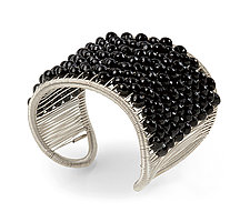 Faceted Onyx Cuff by Tana Acton (Silver & Stone Bracelet)