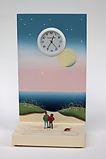 Walking my Owners by Pascale Judet (Painted Clock)