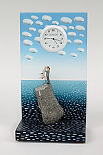 Pinnacle of Love at the Ocean by Pascale Judet (Painted Clock)