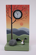 Sunset Waltz by Pascale Judet (Painted Clock)